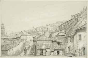 Osmond Romieux (1826-1908) Views of Valparaiso, Chile
