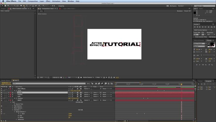 After Effects Kinetic Typography tutorial