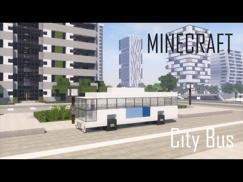 3) Minecraft City Bus - Vehicle Tutorial - YouTube