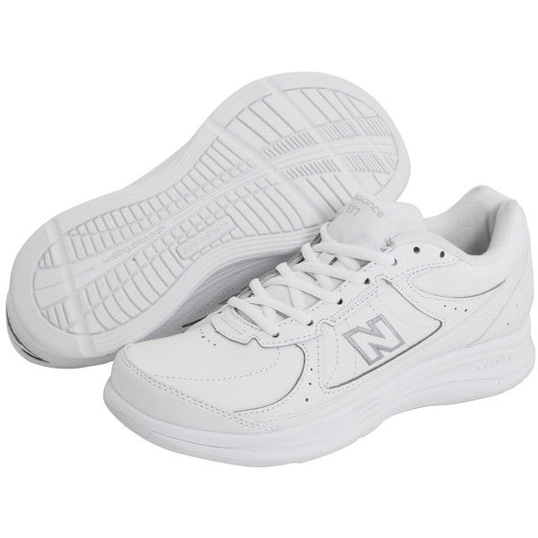 New Balance WW577 (White) Women\u0027s Walking Shoes ($68) ? liked on Polyvore