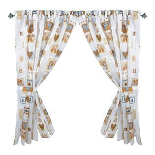 """Hearts Galore Contemporary 34""""x54"""" Fabric Window Curtain with Tie-Backs"""
