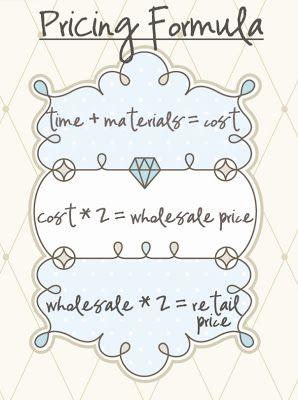 How to price handmade stuff...