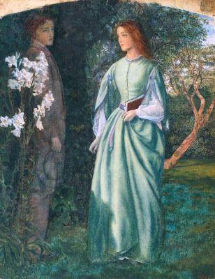 Arthur Hughes, H απόρριψη του Romney από την Aurora Leigh, 1860. Βρίσκεται στην πινακοθήκη της Tate Britain.