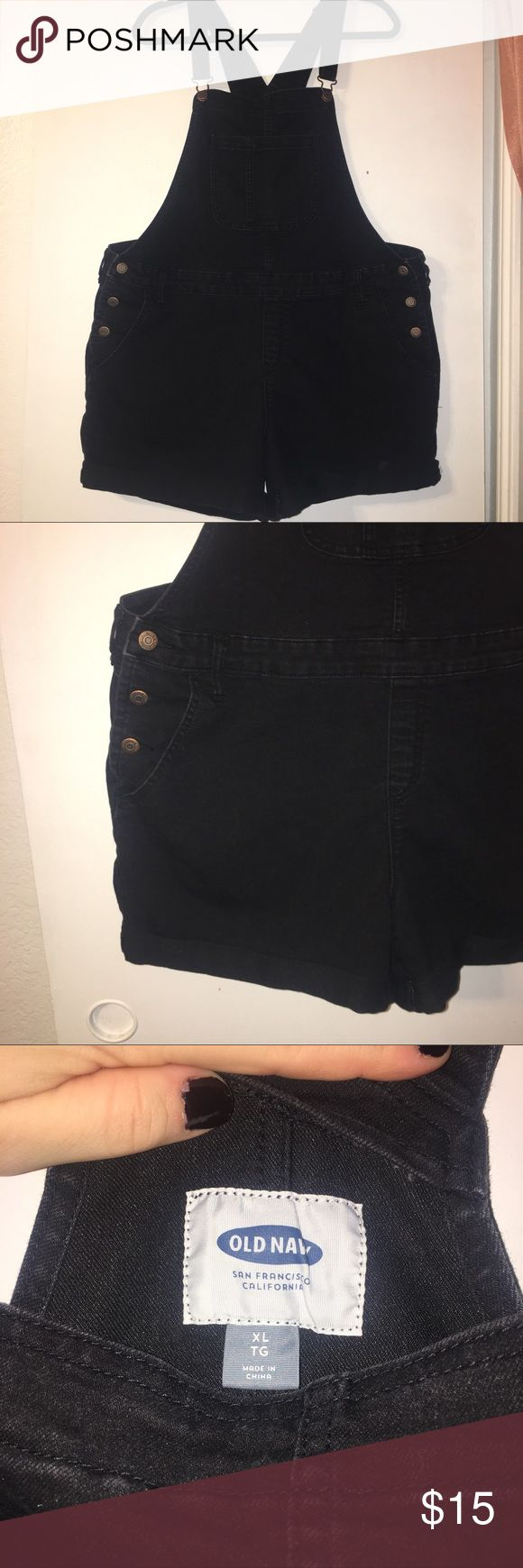 Old Navy Short Black Overalls Old Navy. Shorts Overalls. Black. Size XL Old Navy Jeans Overalls