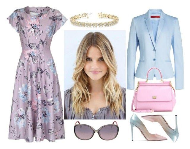 FIOLET - ZALICZENIE II by paradowskasylwia on Polyvore featuring polyvore fashion style HUGO Prada Dolce&Gabbana Fendi Allurez clothing