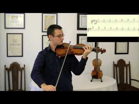 how to play c major scale on viola