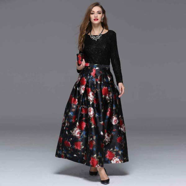 Latest Pakistani Long Skirts For Girls In 2020  Long -8508