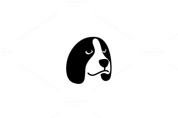 Beagle Dog Head Vector Logo by @Graphicsauthor