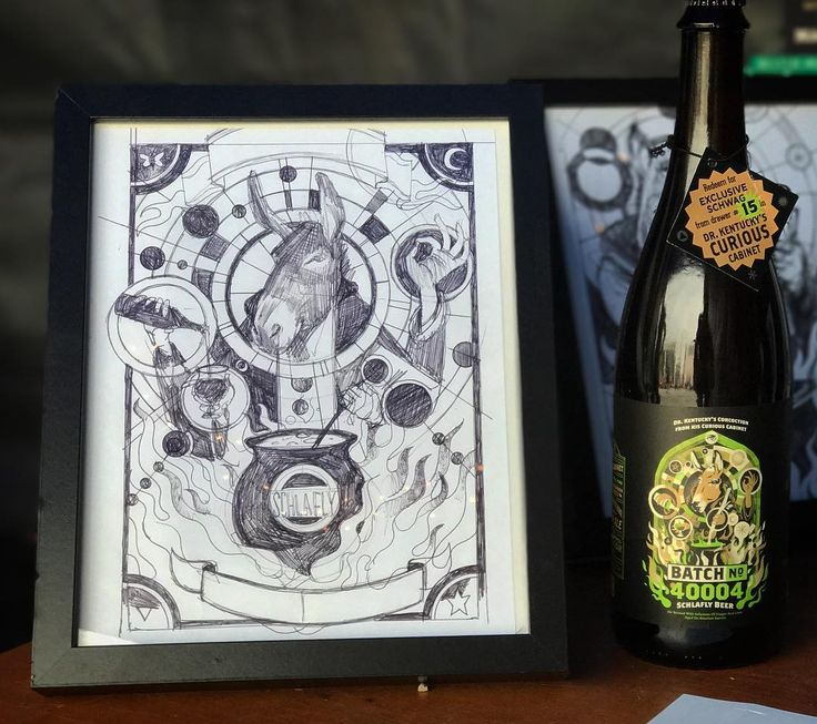 Got to meet the artist behind the new Schlafly beer Dr. Kentucky's Concoction from his Curious Cabinet Batch No. 40004 and see the original artwork that inspired the label. Super fun!