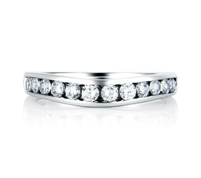 Trending Channel Set Wedding Band This beautiful wedding band ring is a part of the Classic