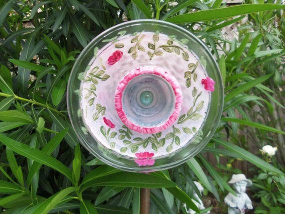Glass Flower Garden Art