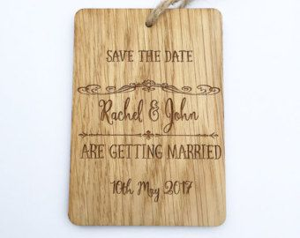Save The Date Rustic Wedding Announcement Save by MantaMakesLtd