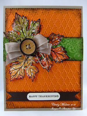 Gently Falling Thanksgiving #stampinup #thanksgiving