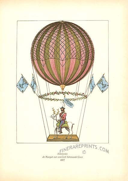 149 best images on pinterest hot air balloons vintage hot air balloon print malvernweather Image collections