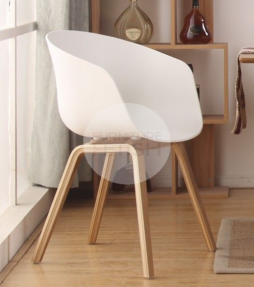 Macey Dining Chair - White /Natural