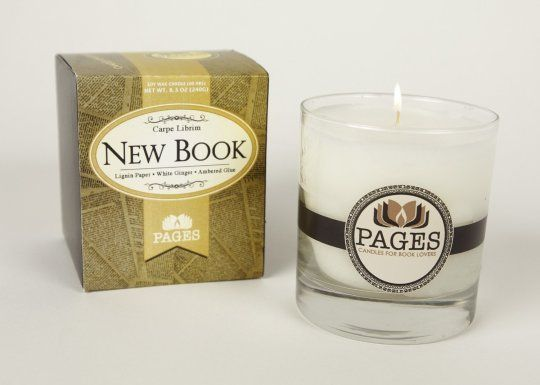 This soy wax candle will remind of the beautiful smell of a newly opened book