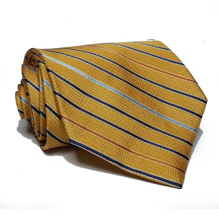 "#ebay Jos A Bank Men silk Dress tie Yellow Stripes 3.5"" wide 58"" long Made in Italy withing our EBAY store at  http://stores.ebay.com/esquirestore"