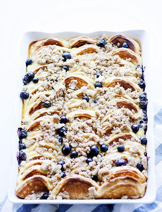 lemon ricotta and blueberry overnight pancake casserole | heathersfrenchpre...