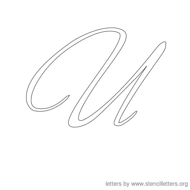 cursive letter stencils u letter templates pinterest With wood burning cursive letters