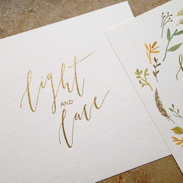 milia_ink in progress #logo #lettering #gold #miliaink