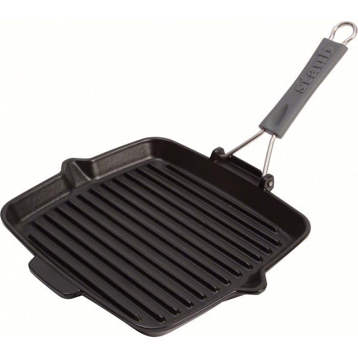 Сковорода-гриль 24х24 см, черная