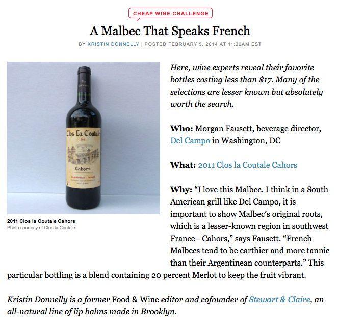 Clos La Coutale - Cahors AOC Wine