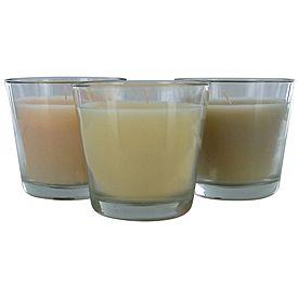 Trio Glass Jar Candle Vanilla Set of 3 - $5
