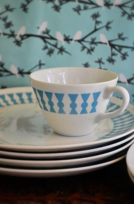 Tea and Toast Vintage Dish Set