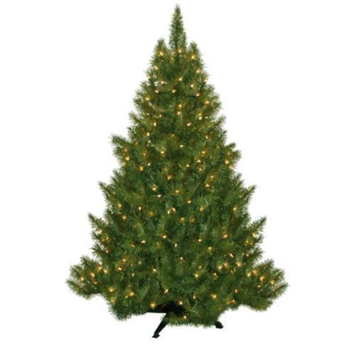 Artificial Christmas Tree Sale 4.5' Evergreen Fir with 250 Clear Lights Super  #ArtificialChristmasTreeSale