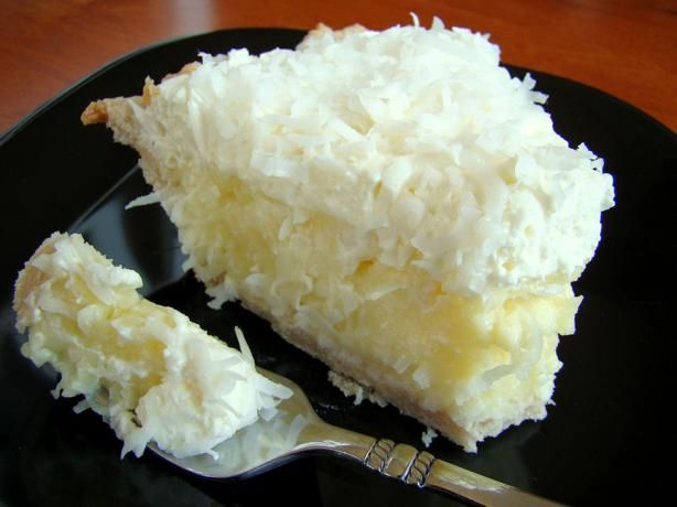 Coconut Cream Pie from Food.com:   Took this to a church supper and brought the pie plate home virtually licked clean!