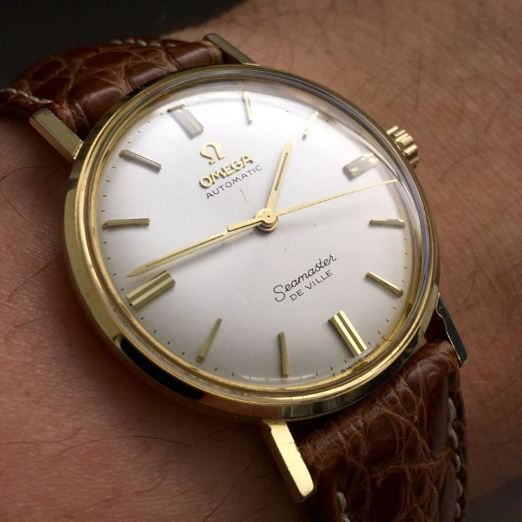 Vintage OMEGA Seaamster DeVille Automatic Dress Watch Circa 1960s - https://omegaforums.net Omega Seamaster Deville Vintage Menswear Mensfashion Wristshot Womw Wruw Horology Classic Montres uhren Orologio Watches Watchporn Fashion style Preppy Omegaseamaster