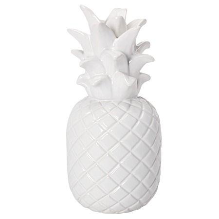 Tropicana Porcelain Pineapple Decor White 11.3cm x 11cm x 24cm
