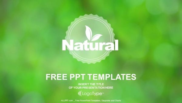 Free Organic Natural Products Powerpoint Template Powerpoint