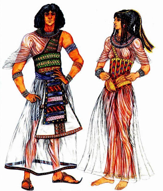 Костюмы знатных египтян
