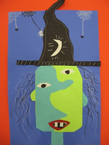 halloween picasso witches by dogboneart, via Flickr