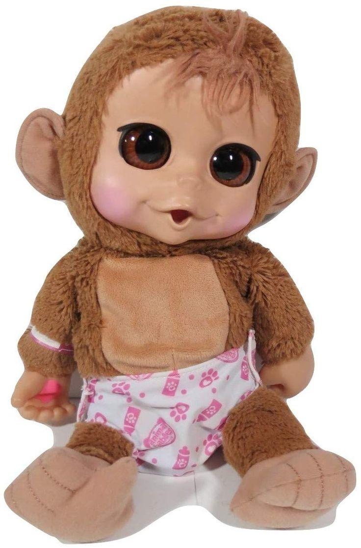 Animal babies baby chimp monkey interactive doll plush