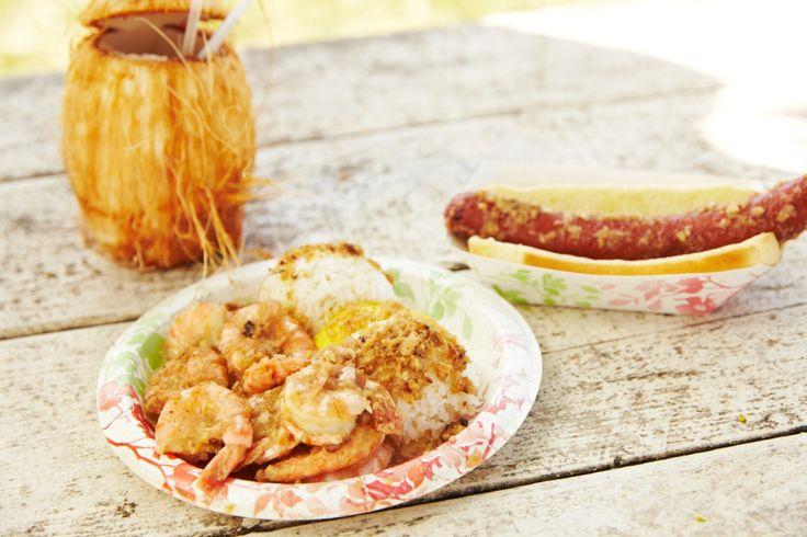 ココナッツジュースとホットドッグと一緒に。 お友達や家族とシェアして食べるのもオススメ!
