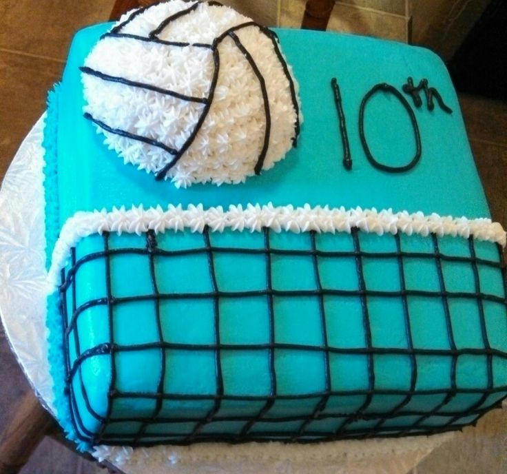 Volleyball cake for Kylie's future 13th birthday!!!:)