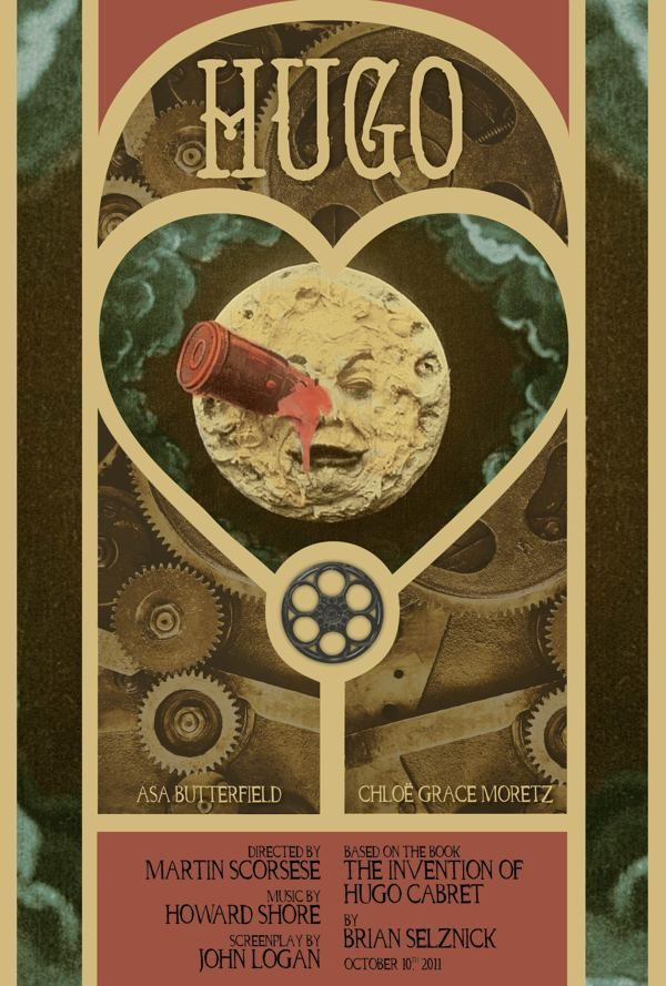 THIS IS MY FAVORITE MOVIE!!     Hugo Movie Poster by Cassandra Evans, via Behance