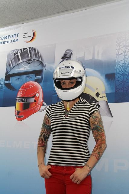 Lina van de Mars with helmet by Schuberth GmbH, via Flickr