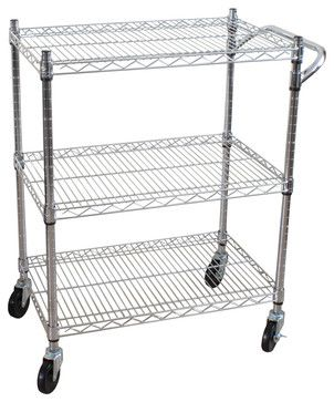Oceanstar 3 Tier Heavy Duty All-Purpose Utility Cart - contemporary - Cabinet And Drawer Organizers - Oceanstar Design Group Inc.