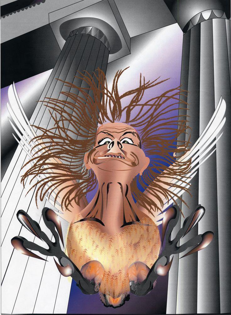 Self Portrait as a Harpy, Illustrator