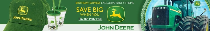 John Deere birthday supplies
