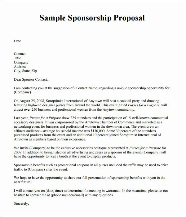 Free Event Proposal Template In 2020 Sponsorship Proposal