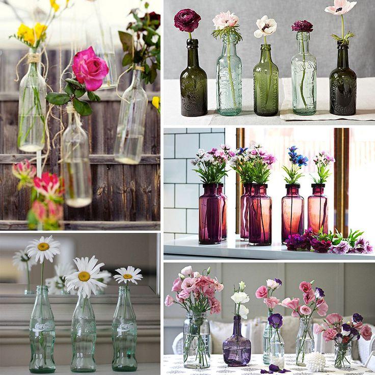 decorar con botellas recicladas