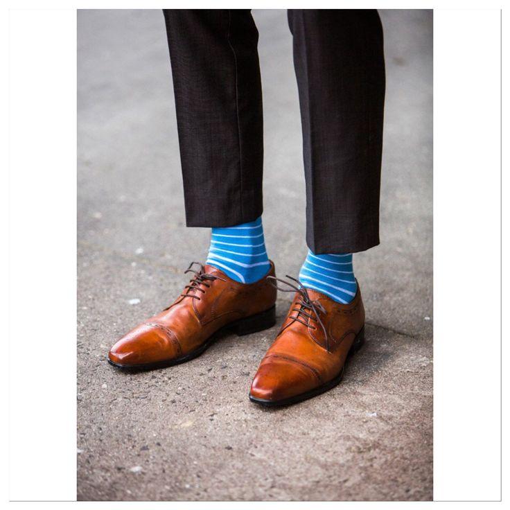 New range Rock My Socks Blue & White Striped Socks looking amazing with these Julius Marlow kicks! Shop our socks online at www.rockmysocks.com #coolsocks #rockmysocks #mensfashion #mensstyle stripes #stripedsocks #colorfulsocks #gq #fashion #style #ootd #socks #rockmysocks #colourfulsocks #menstagram #dapper #moderngent