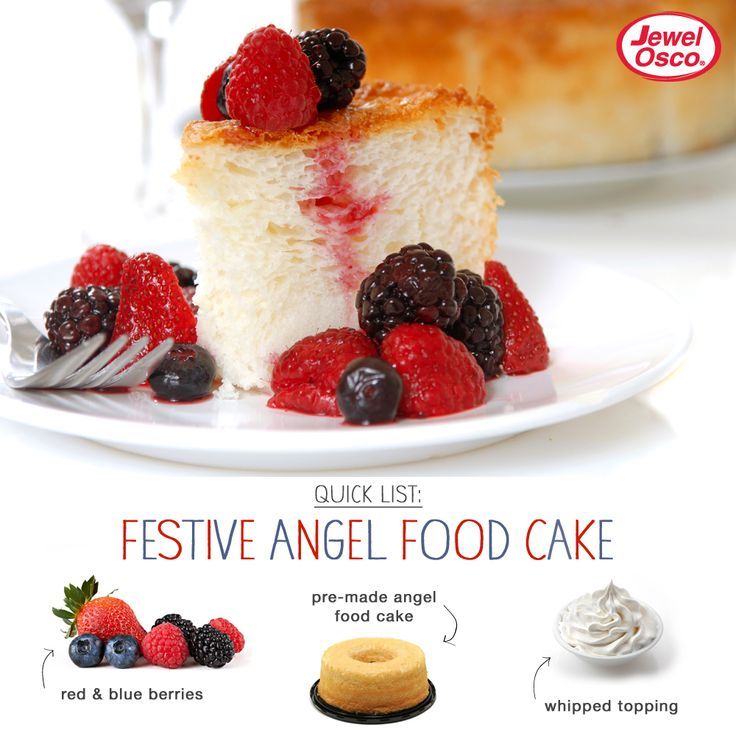 Red, White, And Blue Angel Food Cake Recipe — Dishmaps