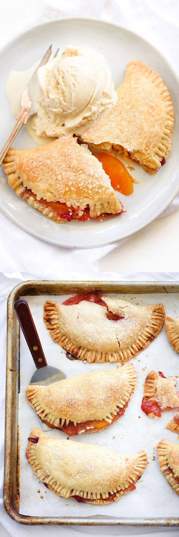 Store-bought pie crust and the season's freshest fruit makes these simple hand pies an easy dessert or snack. Especially when served with a dollop of ice cream on the side. | foodiecrush.com