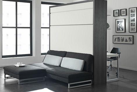 Smart  Bureau aan de wand, kastbed opklapbed eiken grijs wit boone dealer  slaapkenner theo bot zwaag hoorn matras  ruimtebesparend bed thuis werken studenten kamer slapen wonen