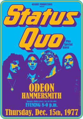 STATUS QUO  london  Hammersmith Odeon  15 december by tarlotoys